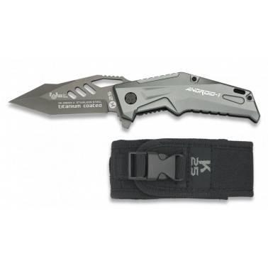 Couteau pliant K25 Androïd-1 à ouverture assistée