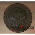 patch velcro pvc infidel punisher noir