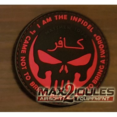 patch velcro pvc infidel punisher rouge