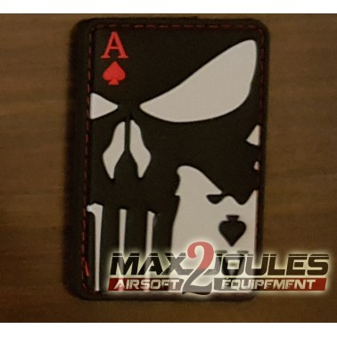 patch pvc velcro carte ace of spades punisher as de pique