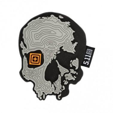 patch pvc 5.11 topo skull noir gris 511-81080-029