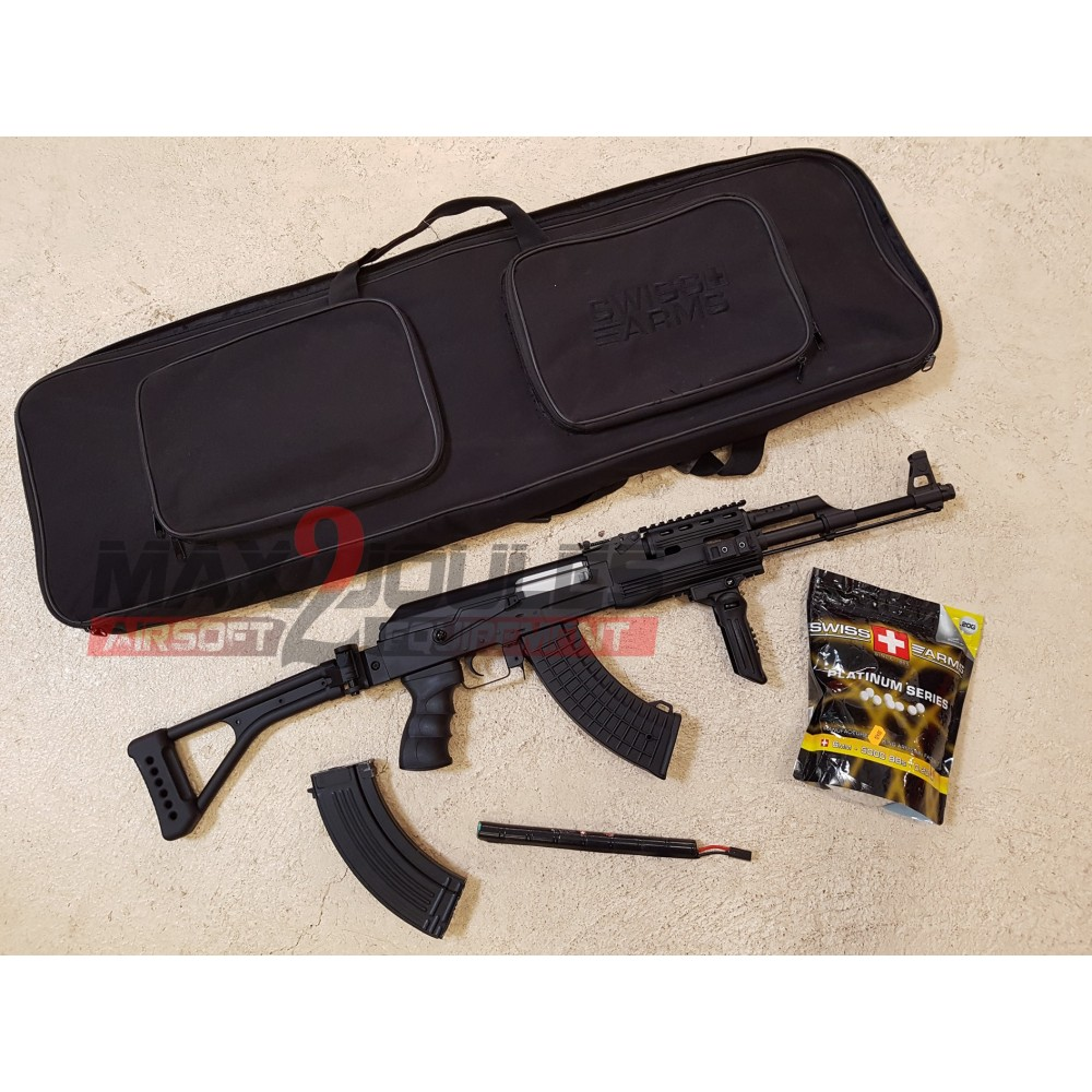 pack promo AK tactical + housse + batterie + poignee + 2eme chargeur + 5000 bb's 0.2 King arms