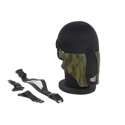 demi masque grillage TMC multicam tropic + insert mousse + fixation sur casque