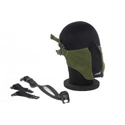 demi masque grillage TMC OD + insert mousse + fixation sur casque