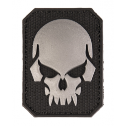 patch pvc tete de mort alien noir