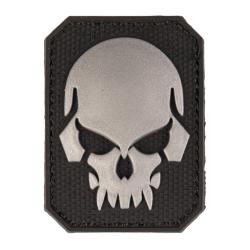 patch pvc tete de mort alien noir