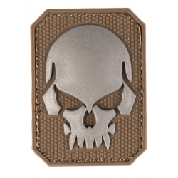 patch pvc tete de mort alien tan