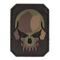 patch pvc tete de mort alien camo