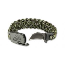 bracelet paracorde camo avec couteau integré