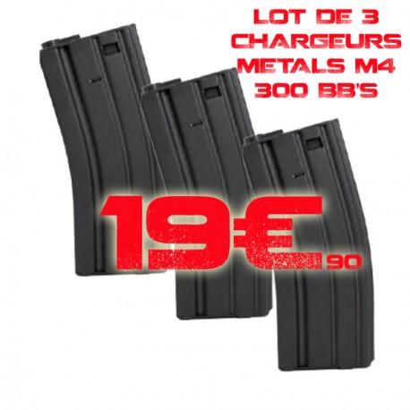 Lot 3 chargeurs M4 M15 COLT 300 bb's
