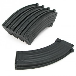 lot 5 chargeurs 110 bb's king arms plastique