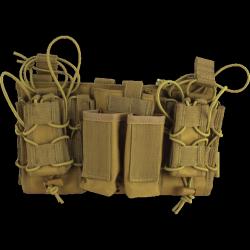 porte chargeurs modulaire tan (4 pa + 3 en 5.56)  viper tactical