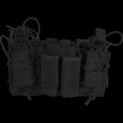 porte chargeurs modulaire noir (4 pa + 3 en 5.56)  viper tactical