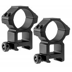 lot de 2 anneaux hauts UTG diam 30mm pour rail picatinny 21mm