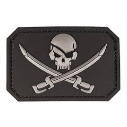 patch pvc skull  pirates noir