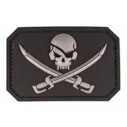 patch pvc skull  pirates noir