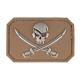patch pvc skull  pirates tan