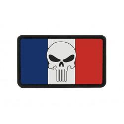 patch pvc skull punisher sur drapeau france