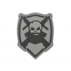 patch pvc beard barbe arbe et gun