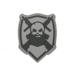 patch pvc beard barbe arbe et gun