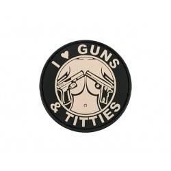 patch pvc guns and titties pink