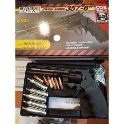 pack 357 6 pouces 4.5mm 2.8j + mallette + cartouches co2