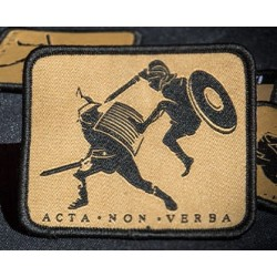 patch secutor acta non verba 76x63mm