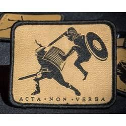 patch secutor acta non verba 76x63mm