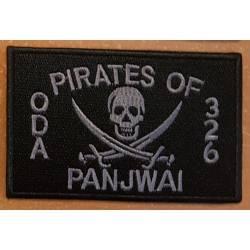 patch velcro pirates of panjwai oda 326 noir