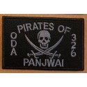 patch velcro pirates of panjwai oda 326 noir