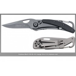 couteau mousqueton blackfox bf-434g10 titanium noir