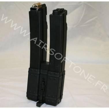 Chargeur MP5 double 560 BB's avec douilles apparentes