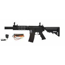 pack aeg LT-15 gen2 m4 silencieux sd + chargeur regulé + batterie 9.6v 1600mah