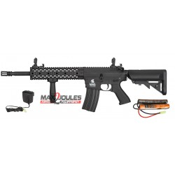 pack AEG LT-12 gen2 m4 ris lancer tactical + batterie 9.6v + chargeur regulé