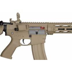 pack AEG LT-25 m4 spr interceptor TAN lancer tactical + batterie 9.6v + chargeur regulé