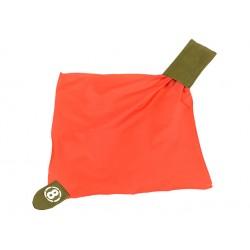 drapeau de touche rouge avec rangement pochette molle OD