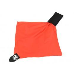 drapeau de touche rouge avec rangement pochette molle noir