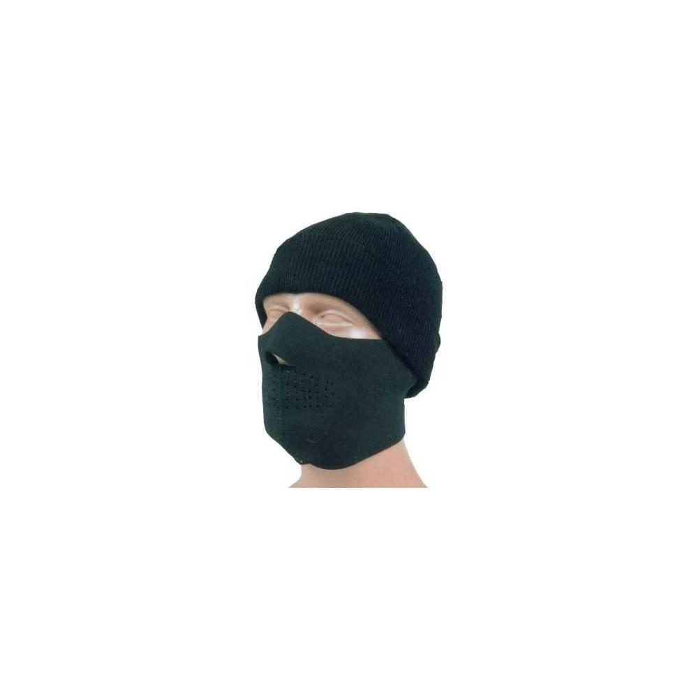 demi masque neoprene noir