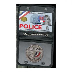 Porte carte professionnel de cou avec emplacement medaille GK PRO 9416G