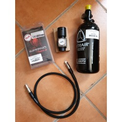 pack wolverine  v2 inferno spartan + bouteille 0.8l + regulateur + flexible
