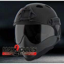 casque anti buee warq noir en kit