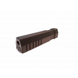 silencieux rectangle rhodium 160mm M16CW