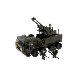 camion de transport avec mitrailleuse 306 bloques à assembler 213mm