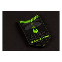 patch pvc alien invasion tactical unit phosphorescent
