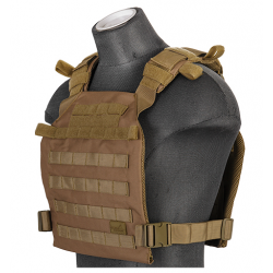 gilet leger plate carrier tan 1000D lancer tactical a68611