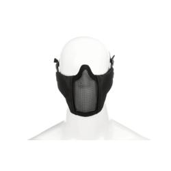 demi masque grillagé noir avec mousse sur les cotés invader gear