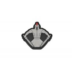 patch pvc spartan warrior guerrier gris