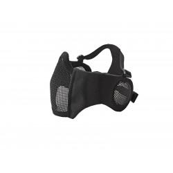masque grillagé noir ASG avec protection oreille 19216