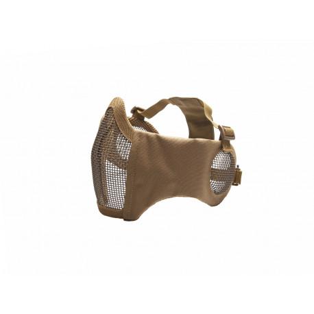 masque grillagé tan ASG avec protection oreille 19234