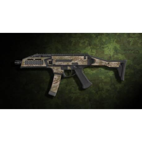 kit complet customisation skin scorpion EVO 3A1 camo multicam aride  + 4 chargeurs